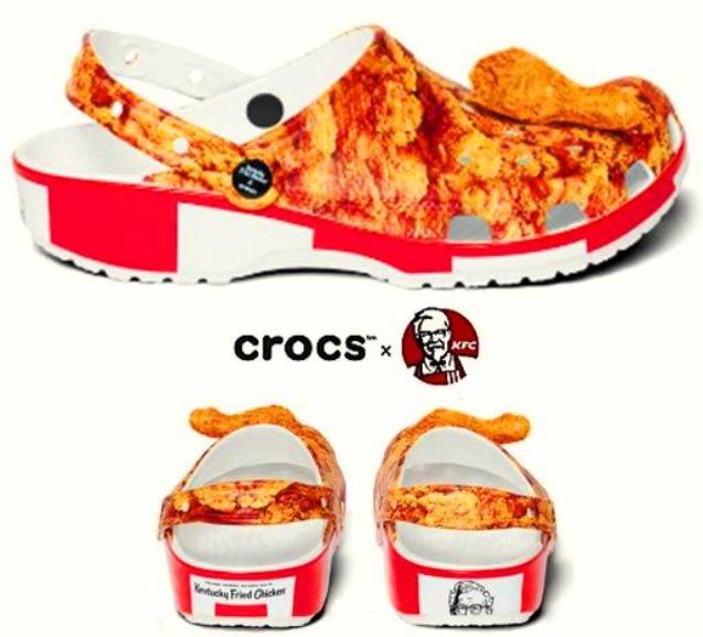 Crocs y KFC lanzan sandalias que huelen a pollo