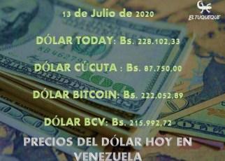 Precio del dólar hoy 13/07/2020 en Venezuela