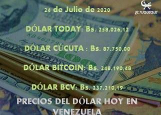 Precio del dólar hoy 24/07/2020 en Venezuela