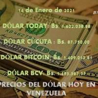Precio del dólar hoy 14/01/2021 en Venezuela