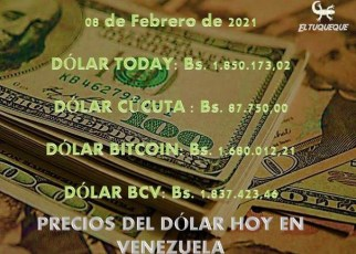 Precio del dólar hoy 08/02/2021 en Venezuela