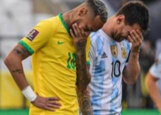 Suspensión insólita del partido Brasil-Argentina