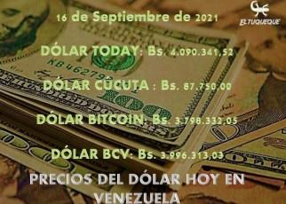 precio del dólar hoy 16/09/2021 en Venezuela