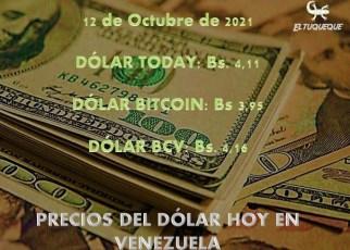 precio del dólar hoy 12/10/2021 en Venezuela