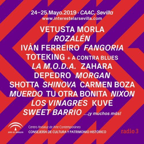 Interestelar Sevilla 2019 cartel confirmaciones febrero