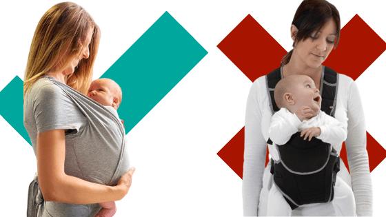 el del bebé mirando hacia Desventajas porteo con delante BoeWdxEQrC