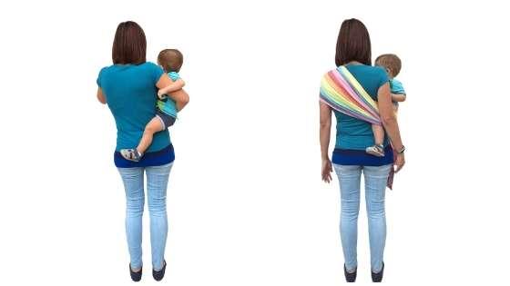 dolor de espalda por cargar bebes incorrectamente