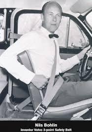 Nils bolín inventó el cinturón de seguridad para adultos