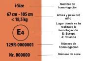 etiqueta homologacion sillas i-size