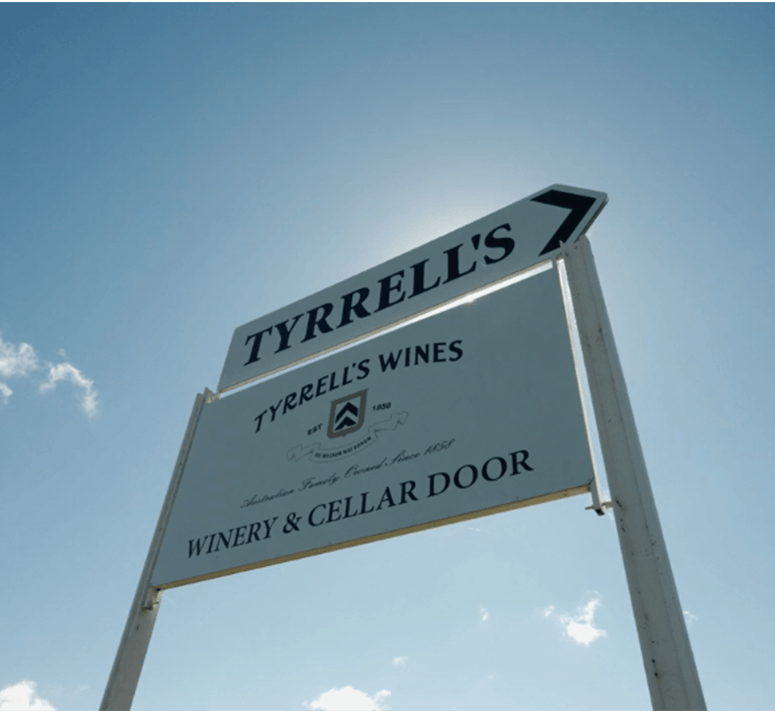 Tyrrell's Wines Corporate Entrance Signage