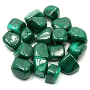 Tumbled Malachite from Healing Crystals