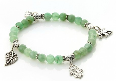 Green Aventurine is used to calm anger, and is believed to stimulate the metabolism and lower blood pressure.  It is connected to heart health, and even has anti-inflammatory effects. -- Green Aventurine Healing Properties