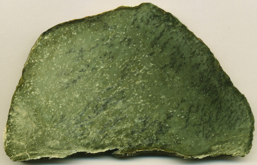 You can tell the difference between Nephrite and Jadeite through a rather unusual test; if you strike Nephrite it will emit a musical tone, whereas Jadeite will not.  -- Jade Stone Facts