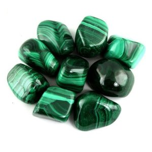 Malachite Tumbled Stones from Crystal Allies Materials