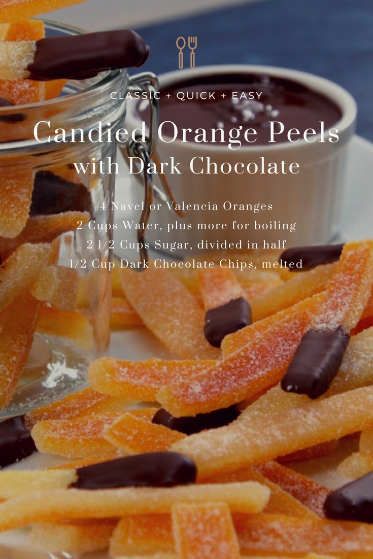 Candied Orange Peels Dipped in Chocolate from Elune Blue (Adapted from Tip Hero)