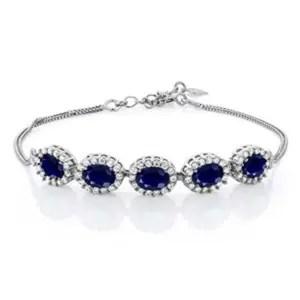 Natural Blue Sapphire Gemstone Bracelet from Gem Stone King