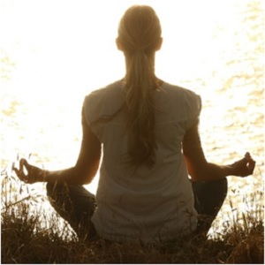 Woman Meditating by River - What is Mysticism - Elune Blue (Witchcraft)