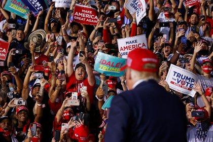Trump, en un mitin en Florida (Reuters)