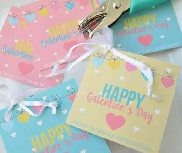 Free printable Galentine's Day tag
