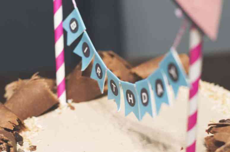 Abstract Mini Cake Bunting by Elva M Design Studio