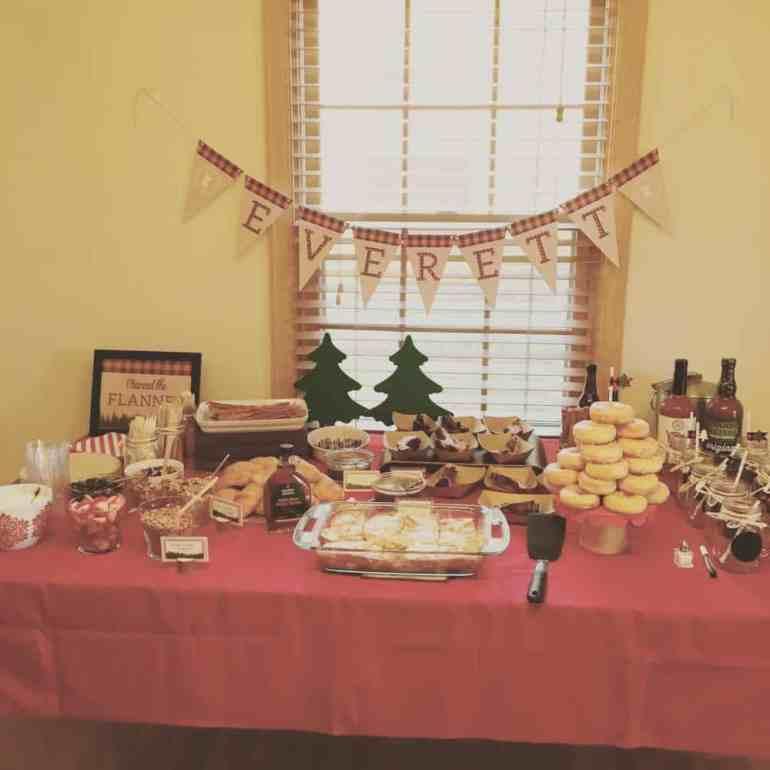 Lumberjack party buffet