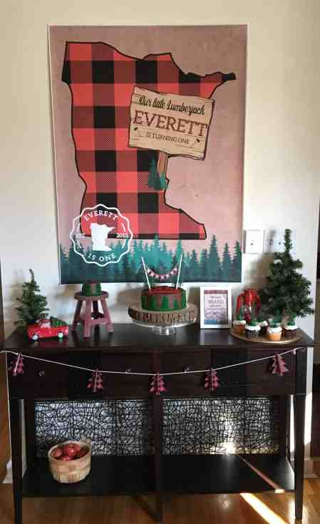 Lumberjack Birthday Party Table