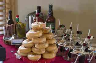 Donut Tower at Lumberjack First Birthday Party