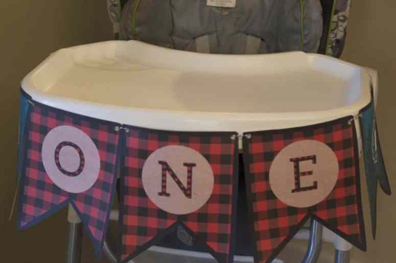 """ONE"" lumberjack high chair banner by Elva M Design Studio"