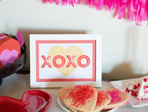 "Free ""XOXO"" Printable from Elva M Design Studio"