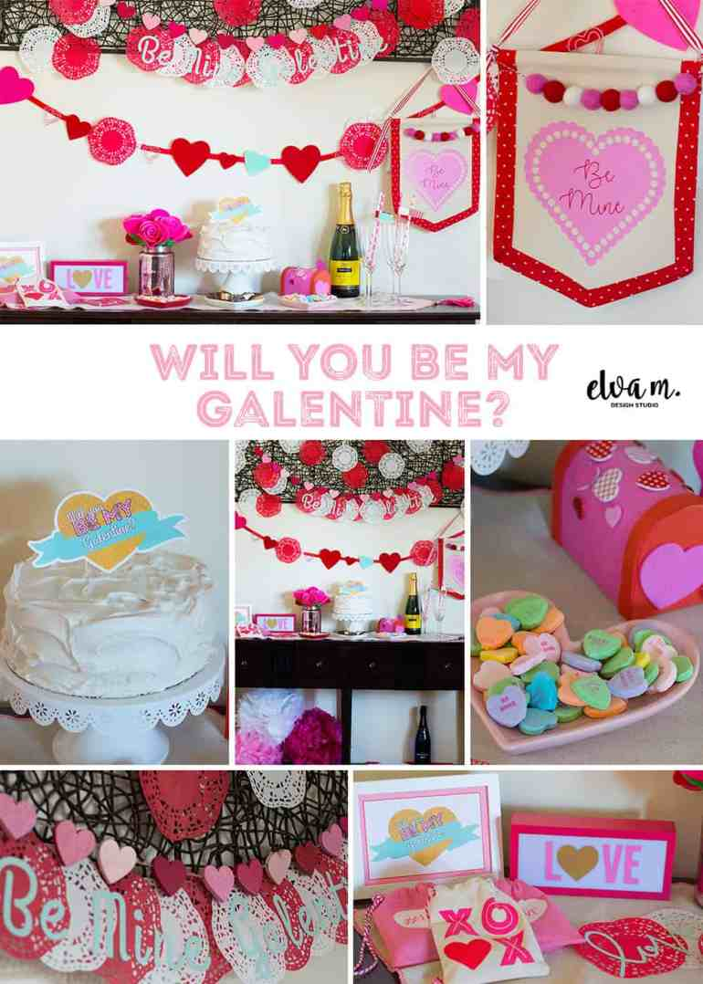 Galentine's Day Party Collage