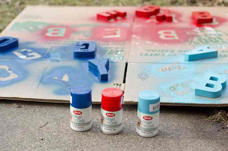 Spray Paint DIY Letters