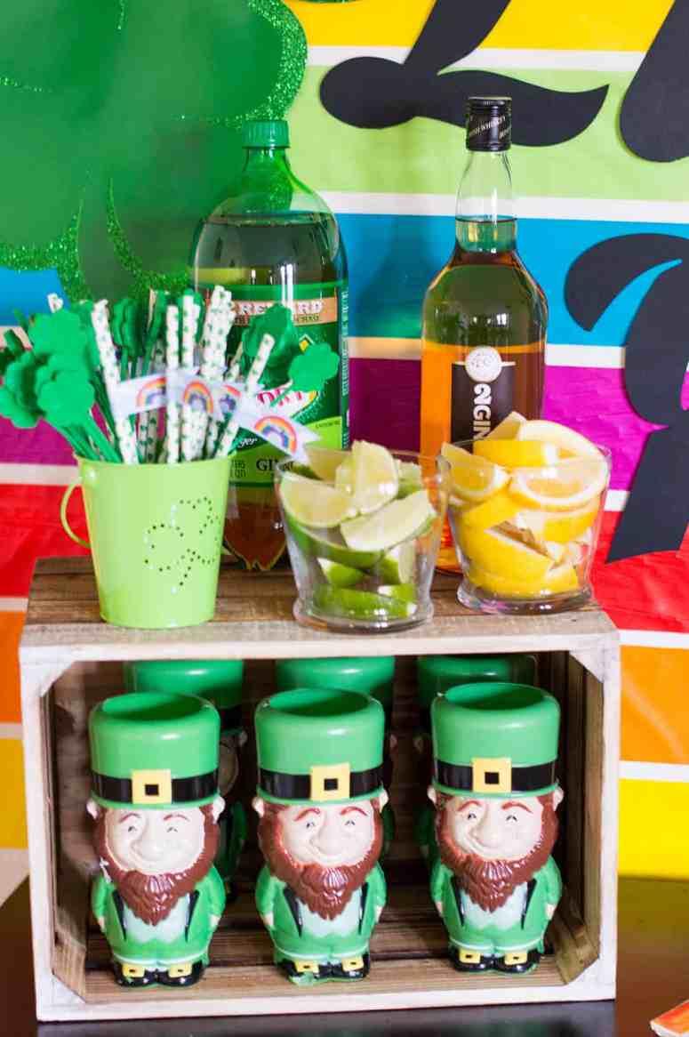 St. Patrick's Day Party Drink Setup