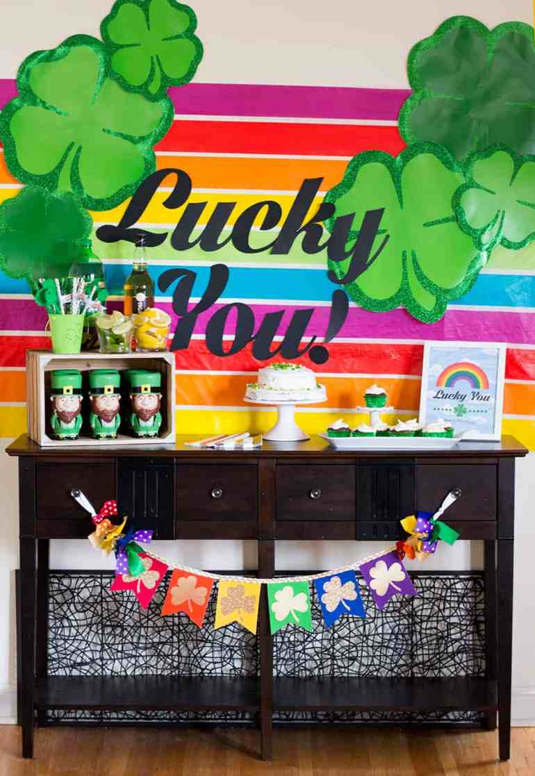 Lucky You St. Patrick's Day Party Table