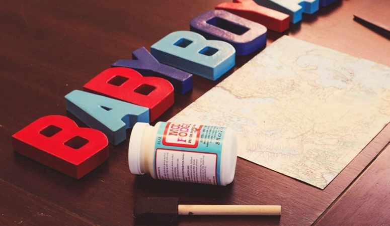 DIY Baby Shower Letters Tutorial