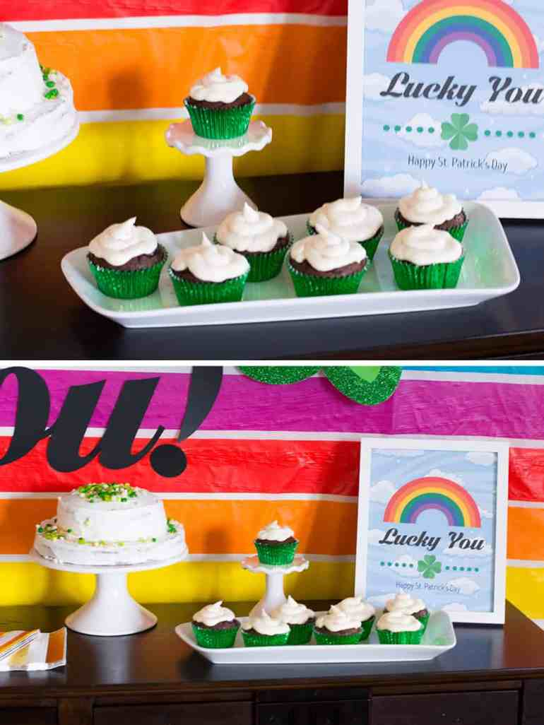St. Patrick's Day Guinness and Whiskey Cupcakes
