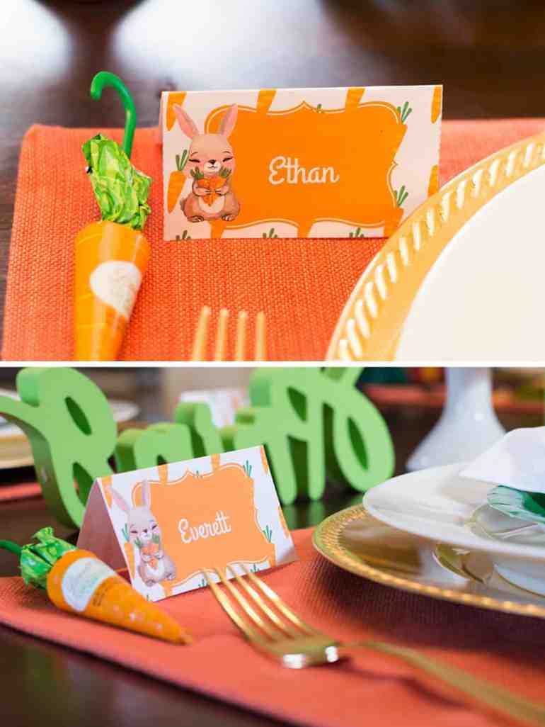 Carrot Patch Easter Place Cards