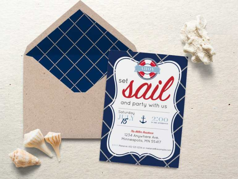 Nautical Party Invite by Elva M Design Studio