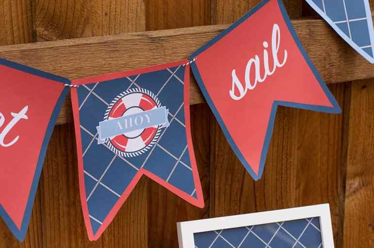 Nautical Printable Party Banner