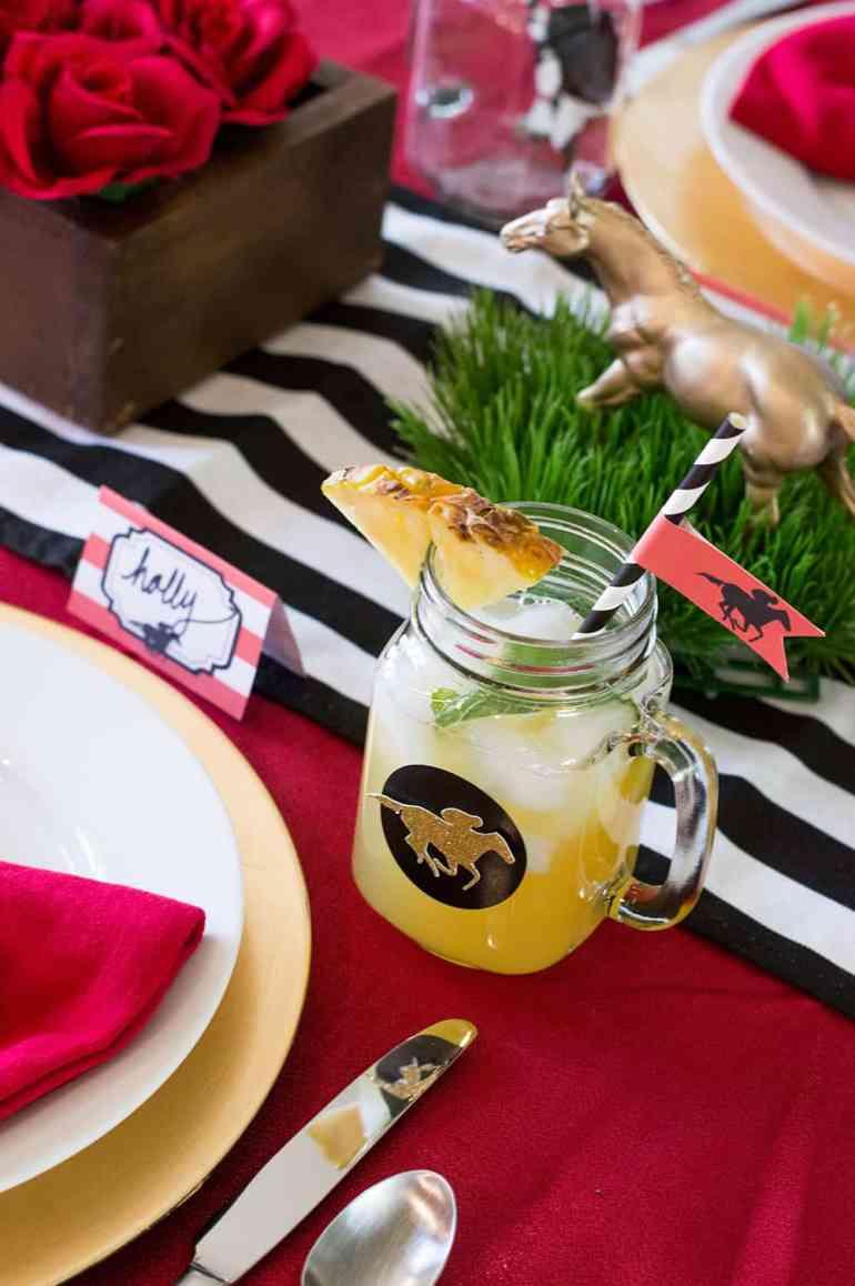 Kentucky Derby Pineapple Mint Julep Sangria   Elva M Design Studio
