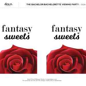 Fantasy Sweets The Bachelorette Sign