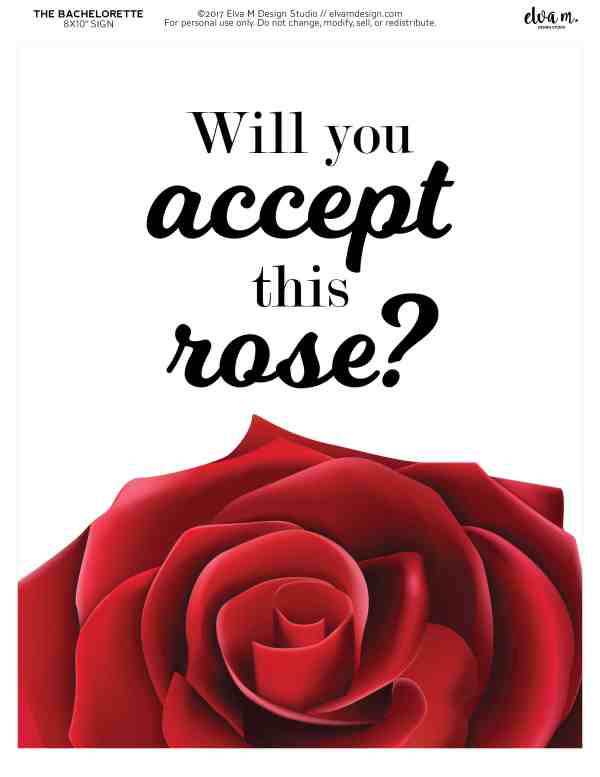 Will you accept this rose? printable