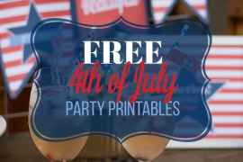 Printable 4th of July Decorations