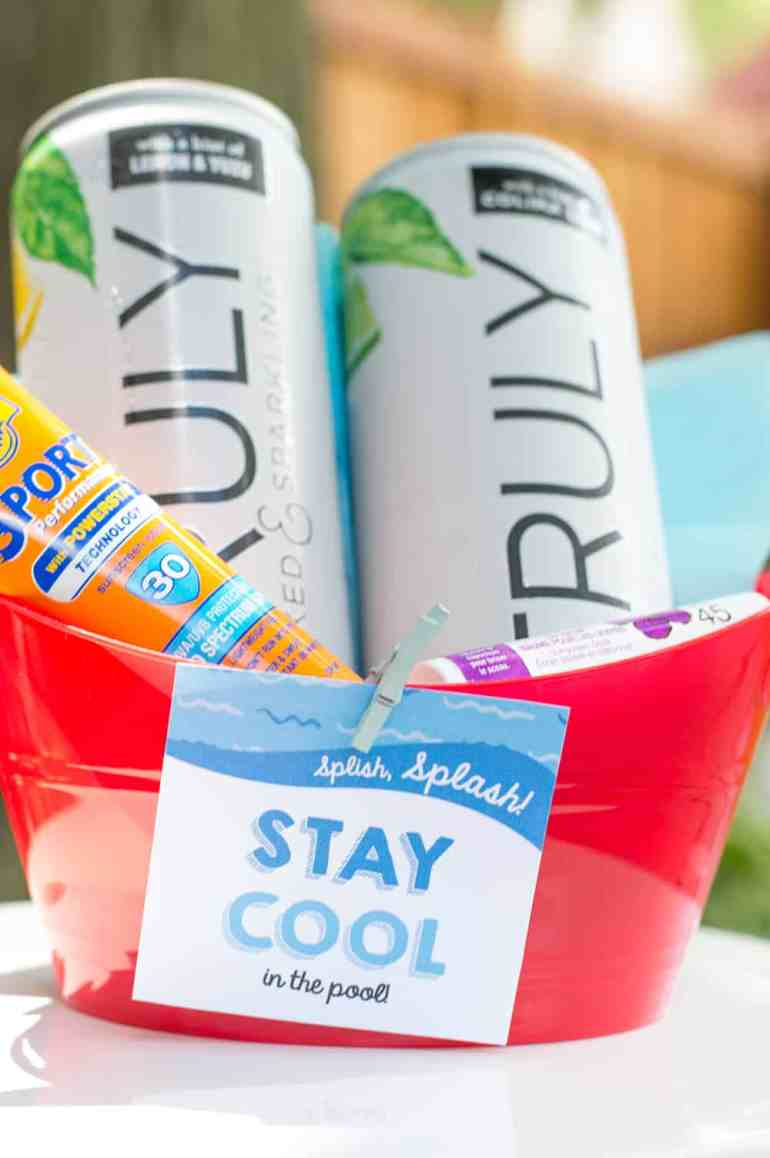 """""""Stay Cool in the Pool"""" Pool Party Hostess Gift"""