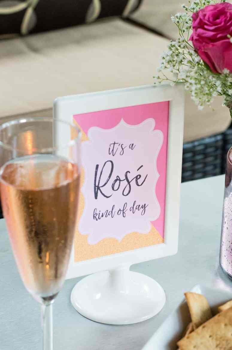 Rosé Kind of Day Sign
