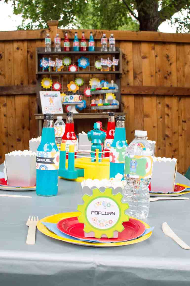 Robot Birthday Party Place Setting