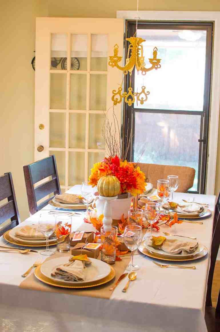 Festive Fall Tablescape from Elva M Design Studio