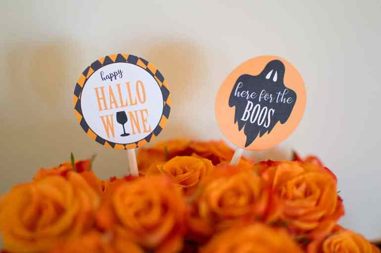 Cupcake Toppers in Roses at the Ghouls Whine Night Party by Elva M Design Studio