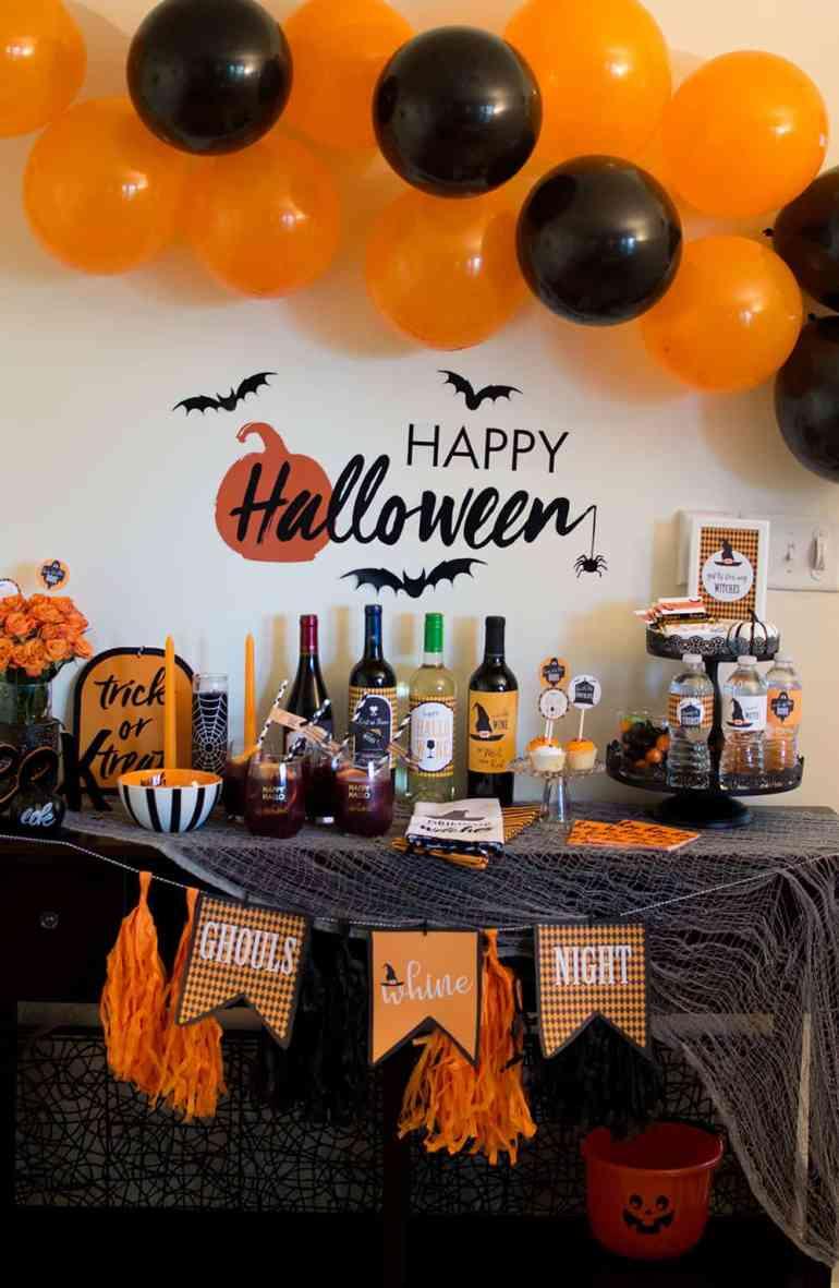 Ghouls Wine Night Halloween Party by Elva M Design Studio