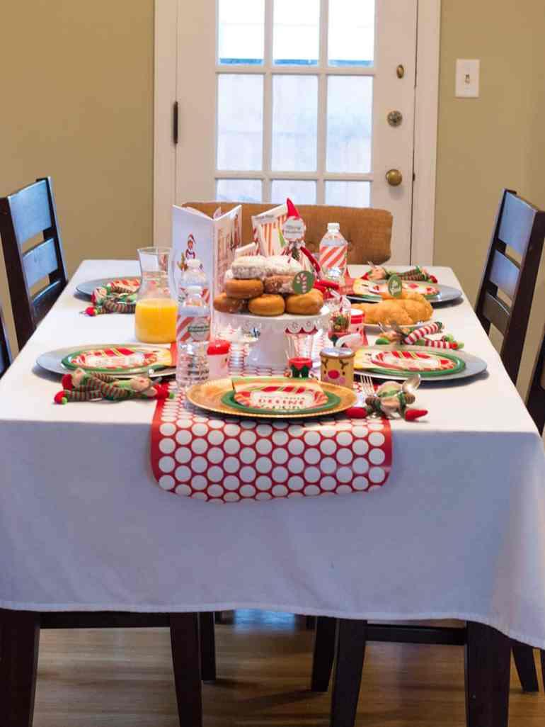 Elf on the Shelf North Pole Breakfast Tablescape by Elva M Design Studio