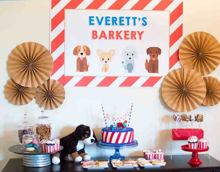 Puppy Party Barkery styled by Elva M Design Studio